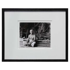 """Birds Nest Man"" Phrang Nga Bay, Thailand Black and White Figurative Photograph"