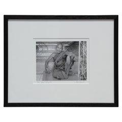 """Monk"" Rangoon, Burma Black and White Figurative Photograph"