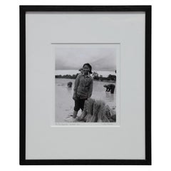 """""""Rice Paddy Girl"""" Siem Reap, Cambodia Black and White Photograph"""