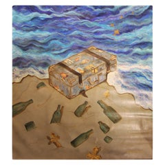"""""""The Chest"""" Large Contemporary Surrealist Painting"""