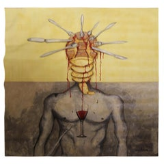 """""""The Body"""" Large Contemporary Surrealist Figurative Painting"""