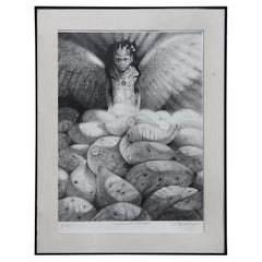 """""""Angel in the Potato Field"""" Abstract Figurative Artist Proof"""