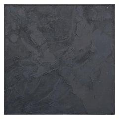 """Web Series No. 5"" Black Tonal Textured Abstract Painting"
