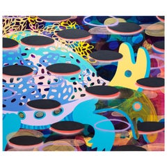 """""""Two-Headed Turtle"""" Massive Abstract Contemporary Colorful Painting"""