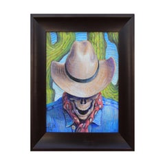 """Goodbye Cowboy"" Contemporary Surrealist Figurative Painting"