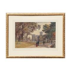 St. James Park Watercolor Painting