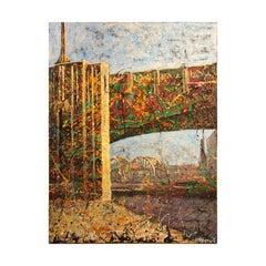 """The Sixth Street Bridge Viewed Thru the 4th St. Overpass"" Los Angeles Cityscape"