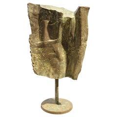 Large Brutalist Abstract Bronze Sculpture