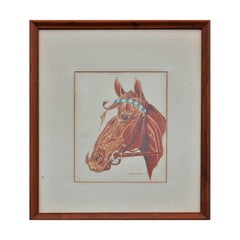Naturalistic Portrait Drawing of a Horse
