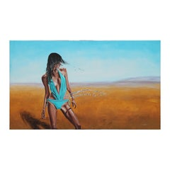 """""""The Water Carrier"""" Realist Portrait of a Woman with Water in the Desert"""
