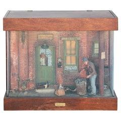 """Spence's Alley (Open)"" Figurative Realistic Cityscape Still Life Sculpture"