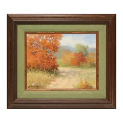 Fall Abstract Impressionist Landscape Painting