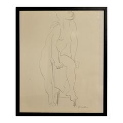 Pencil Nude Drawings and Watercolours