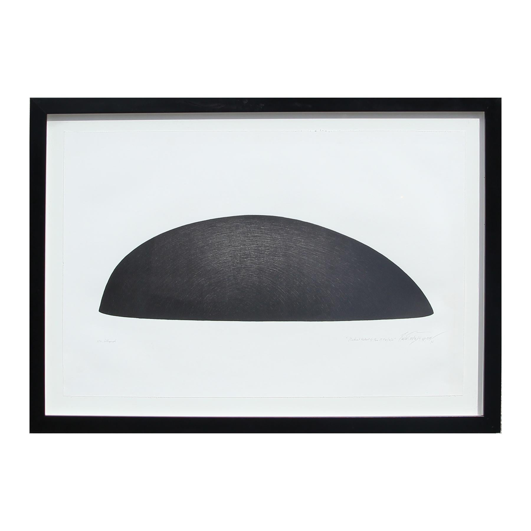"""""""Significant Abstract of Form M.F.A./92/D"""" Large Black Abstract Lithograph"""