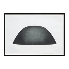 """""""Significant Abstract of Form M.F.A./92/C"""" Large Black Abstract Lithograph"""