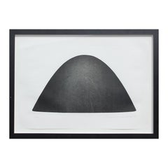 """""""Significant Abstract of Form M.F.A./92/A"""" Large Black Abstract Lithograph"""