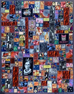 Handmade Fine Art Quilt - Calling All Superheroes! Saving the World This Time...