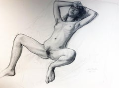 Study for A Foregone Conclusion, Female Nude Figure Study, Graphite Drawing
