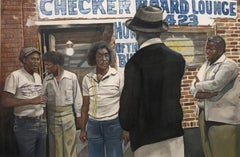 Buddy Guy at the Checkerboard Lounge, Watercolor and Graphite on Paper, Framed