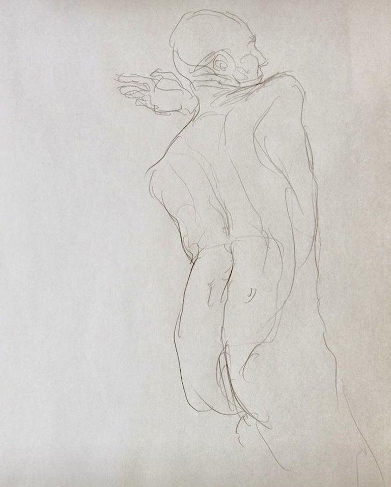 Eduardo Alvarado Figurative Art - Nude Male Back