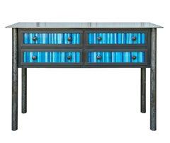 Four Drawer Strip Quilt Counter - Steel Furniture, Gee's Bend Quilt Design