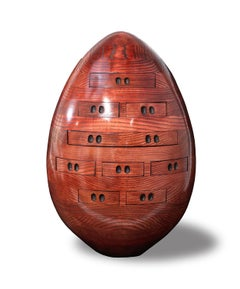 Egg in Red - Multi-drawer Chest Sculpture