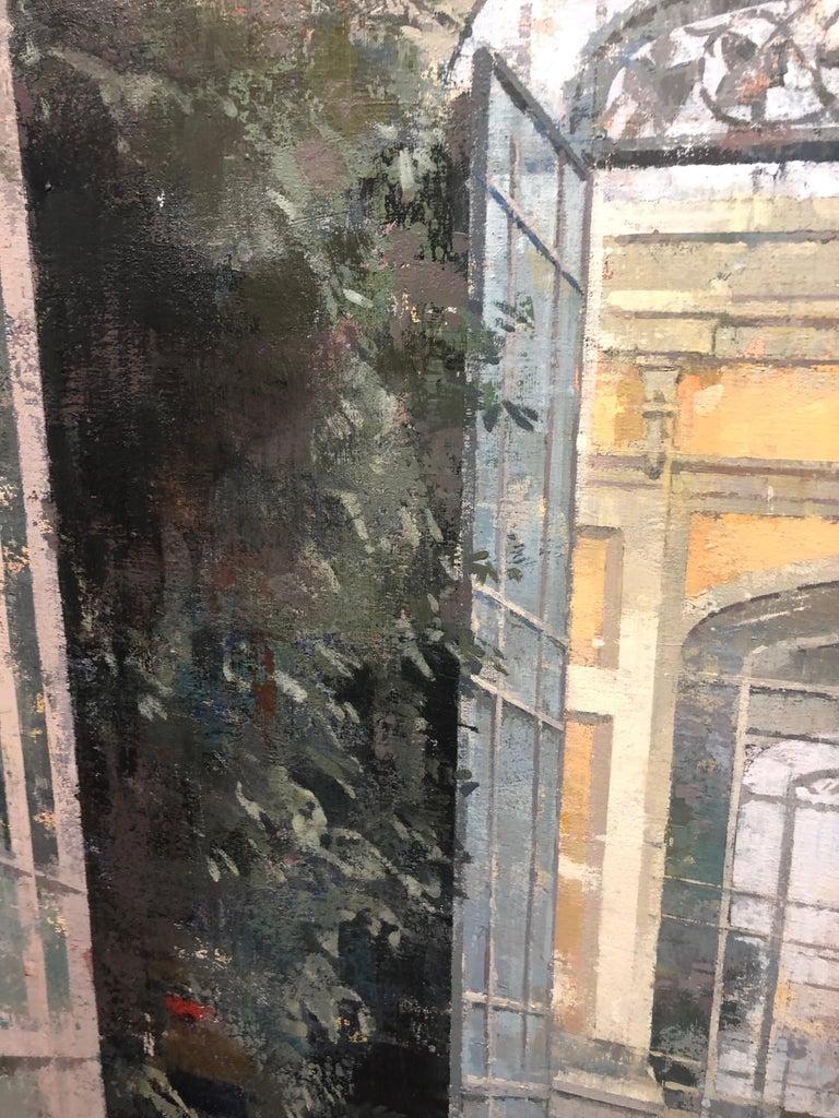 La Ciutadella - Painting of Citadel Park, Barcelona, Spain For Sale 2