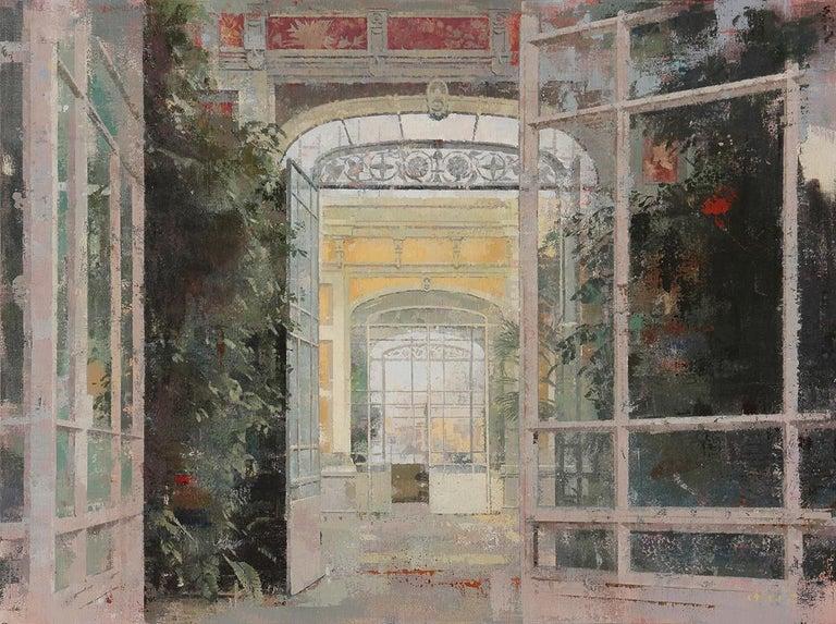 Keiko Ogawa Interior Painting - La Ciutadella - Painting of Citadel Park, Barcelona, Spain