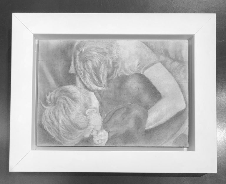Untitled #5 - Two Entwined Figures, Original Graphite Drawing on Panel - Art by Rick Sindt