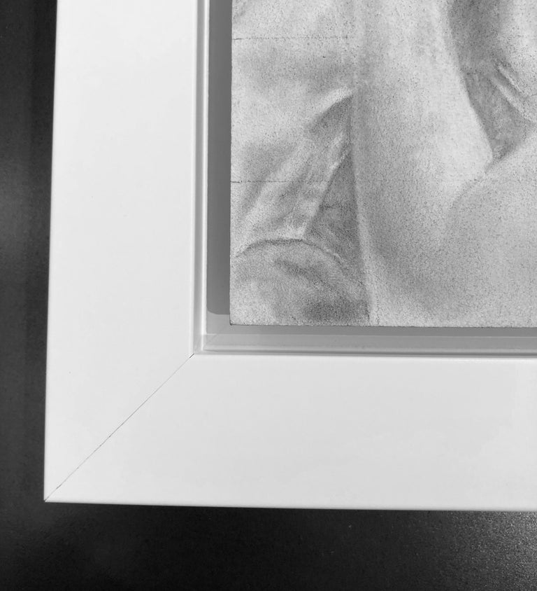 Untitled #6 - Original Graphite Drawing on Panel, Two Figures in Intimate Moment For Sale 4