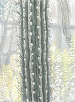Cactus - Small Scale Original Painting on Panel of a Saguaro Cactus