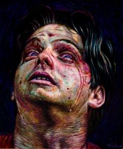 Old King Avenged, Portrait of Shakespeare's Tragic Hero Hamlet, Oil on Panel