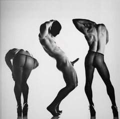Sex 3 - Erotic Male Photo, Fishnet Stockings and High Heals, Matted and Framed