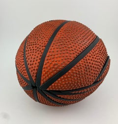 Roly Poly B-Ball, Insect Morphed into Ceramic Basketball Sculpture