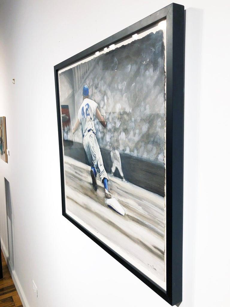 Jackie Robinson broke the baseball color line when he started at first base for the Brooklyn Dodgers on April 15, 1947. When the Dodgers signed Robinson, they heralded the end of racial segregation in professional baseball that had relegated black