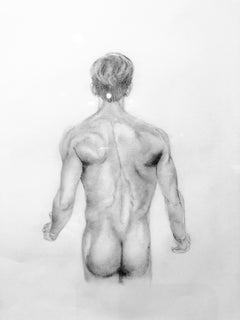 The Body is a Vessel - Muscular Male Nude Torso, Graphite Drawing on Paper