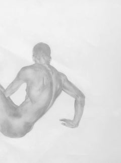 The Body is a History - Muscular Male Nude, Graphite Drawing on Paper