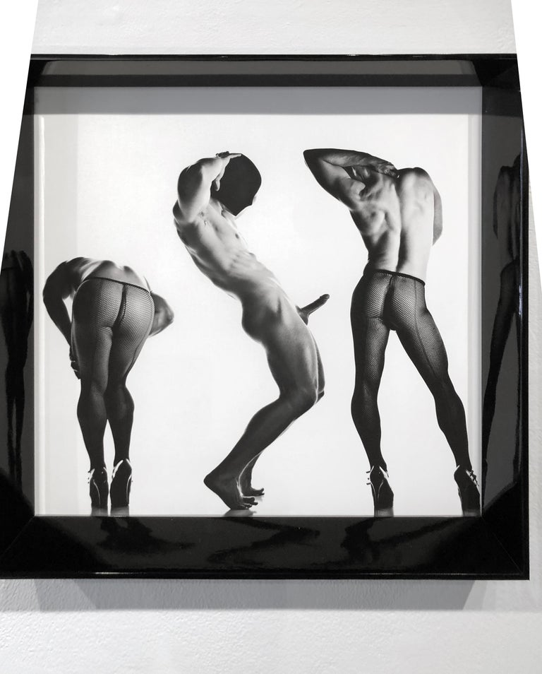 Sex 3 - Erotic Male Photo, Fishnet Stockings and High Heals, Matted and Framed For Sale 4