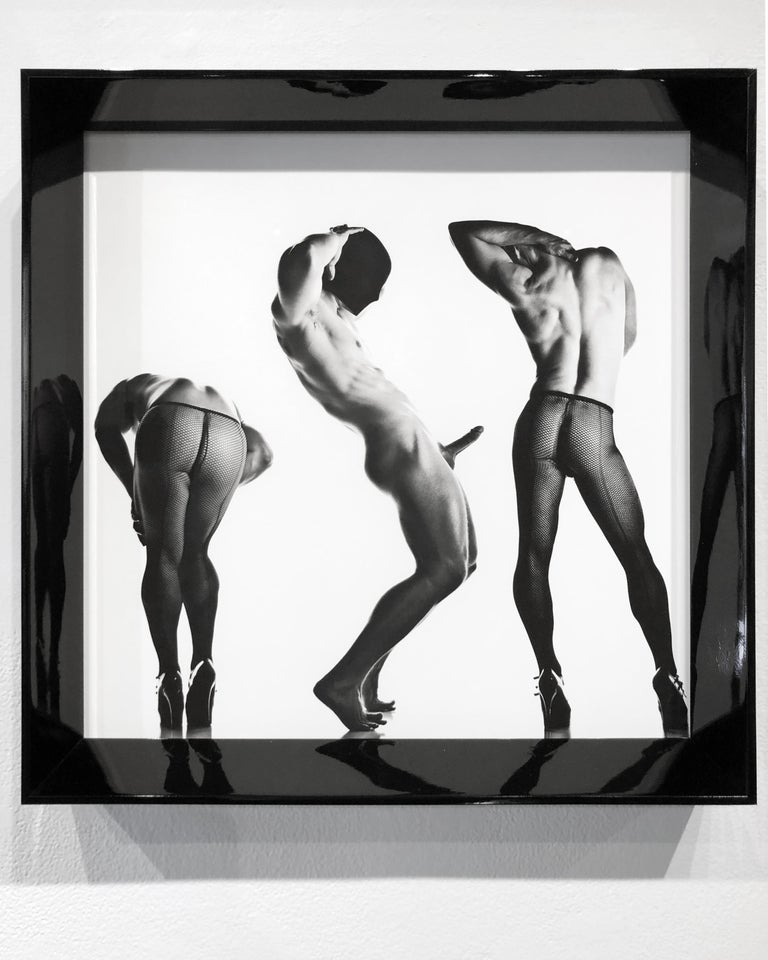 Sex 3 - Erotic Male Photo, Fishnet Stockings and High Heals, Matted and Framed For Sale 5
