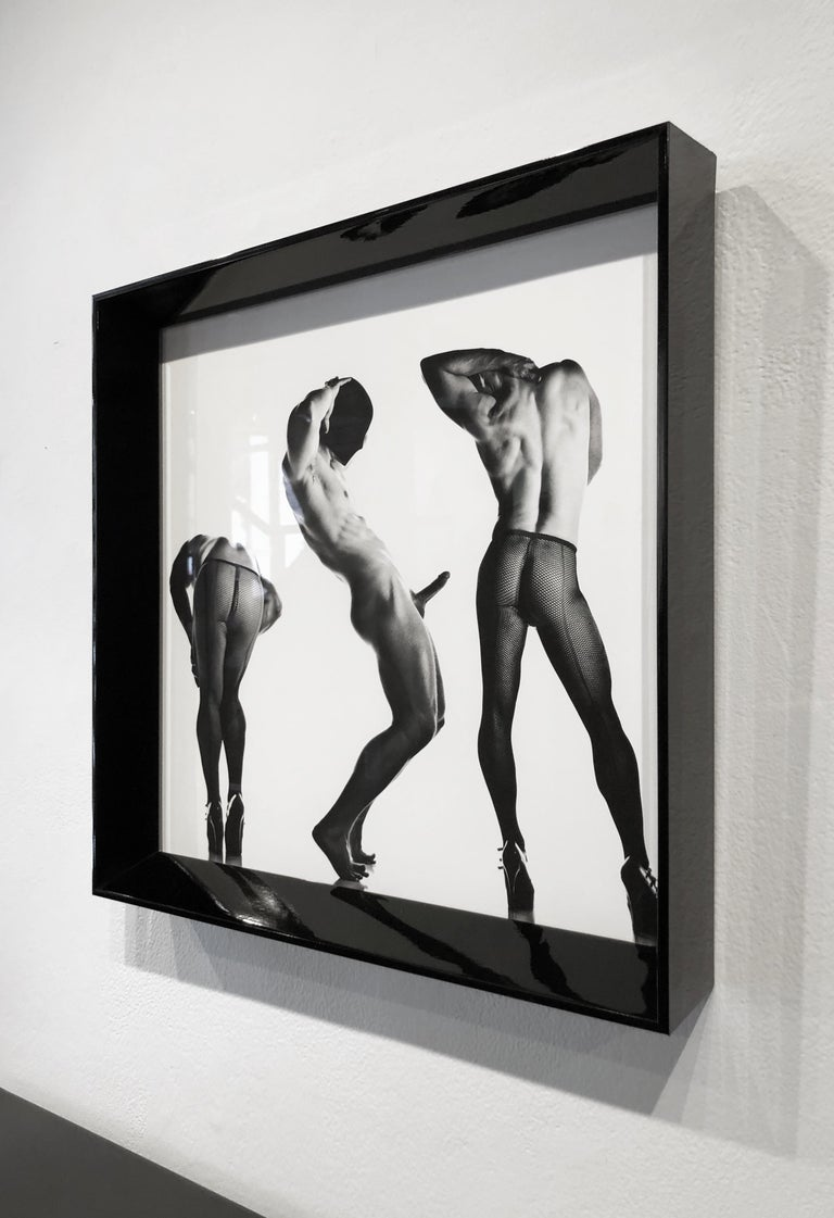 Sex 3 - Erotic Male Photo, Fishnet Stockings and High Heals, Matted and Framed For Sale 2