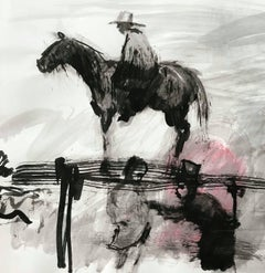 Sketch for Incredulity, Horse and Rider, Civil War, India Ink on Archival Paper