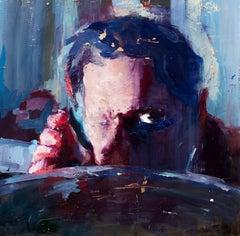 Rabid - Cinema Inspired One Eyed Male Figure, Oil Painting on Panel