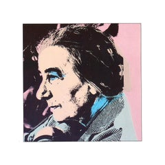 Vintage reproductive print after Warhol, Golda Meir