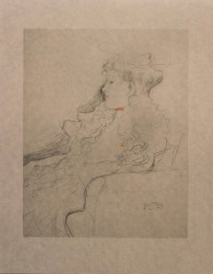 Portrait Sketch: Lady with Ruff (Red and White Tinted) - Niyoda Paper
