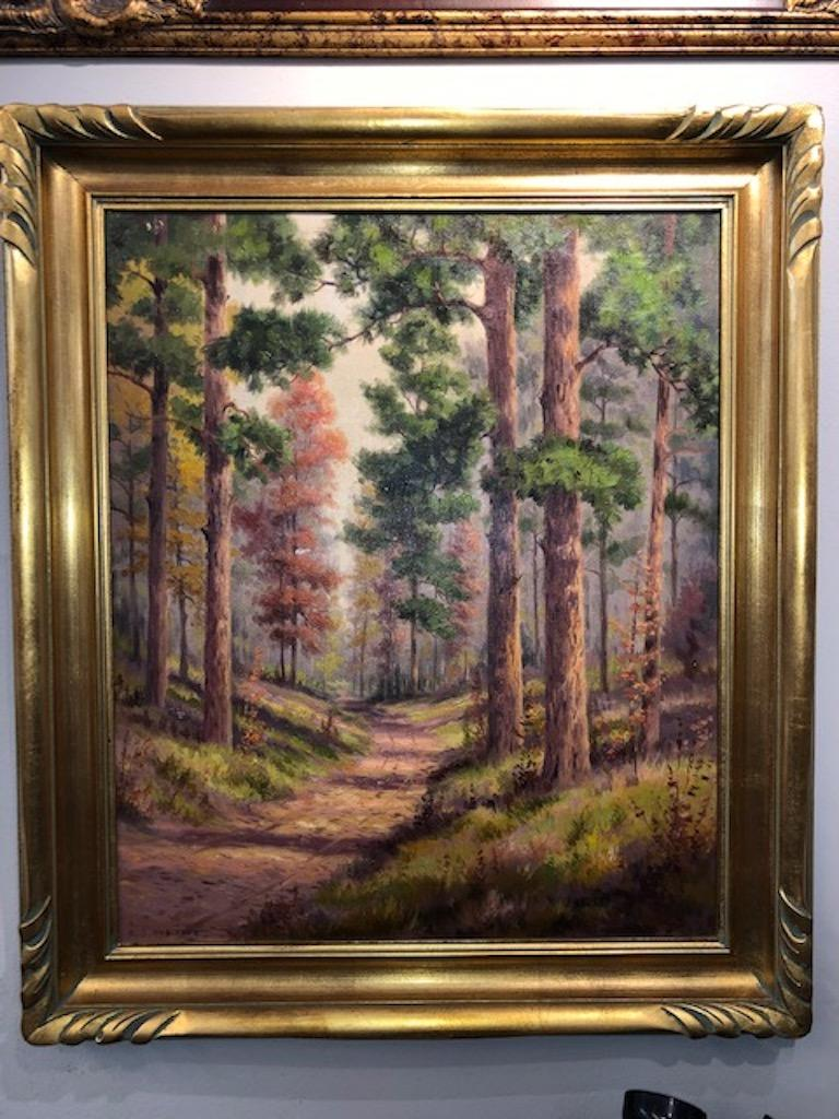 Forest Road - Painting by Dollie Nabinger