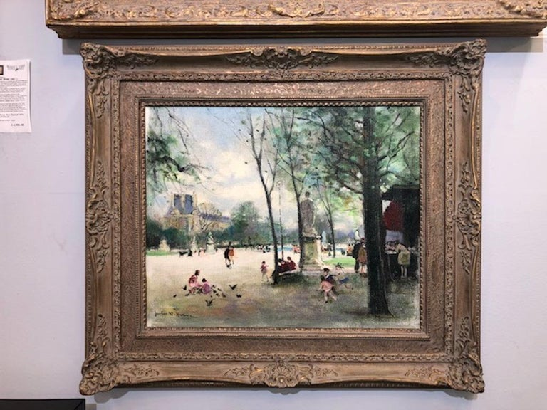 Children Playing - Painting by Jules Herve