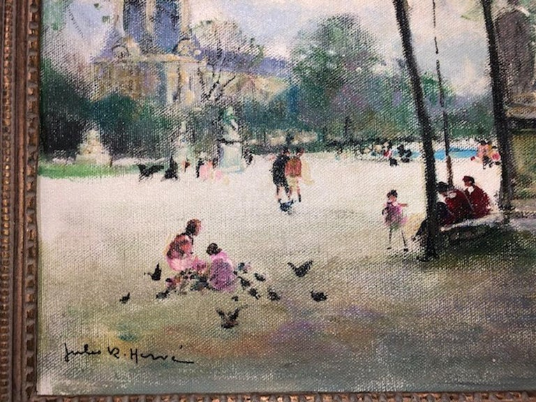 Jules Herve (1887-1981)  Jules René Hervé was a French painter known for his depictions of Paris and the French countryside. Undeterred by the developments of 20th-century avant-garde movements, Hervé devoted himself to mastering the techniques