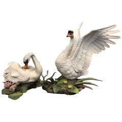Pair of Boehm Porcelain Swans