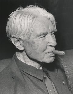 Carl Sandburg Smoking Cigar Fine Art Print