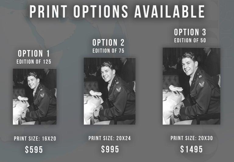 Ronald Reagan Candid in Military Uniform Fine Art Print - Photograph by Joseph Jasgur